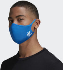 Adidas Originals mondkapje - set van 3 blauw maat M/L