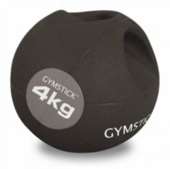 Gymstick Medicine bal - Met Handvaten - 4 kg - Zwart / Grijs