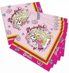 Tib Servetten Barbie 33 Cm Papier Roze 20 Stuks