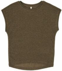 Bruine T-shirt Korte Mouw Only KONSILVERY