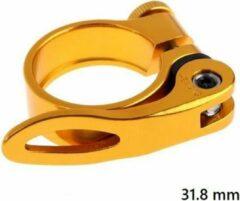 MTB Cycling 31,8mm Quick release zadelklem met lever voor 27.7 tot 28,6mm zadelpen - Goud kleurig