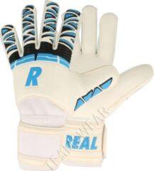 Real Star Keepershandschoenen Heren - Wit / Blauw / Zwart | Maat: 10,5