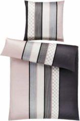 Rosa Bettwäsche, JOOP!, »Cornflower Stripes«, mit Kornblumen-Muster & Streifen