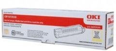 Gele OKI C810, C830 tonercartridge geel standard capacity 8.000 pagina s 1-pack