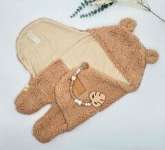 Mon Avenir - Baby Teddy inbakerslaapzak - Bruin - Dun - 4-6 maanden