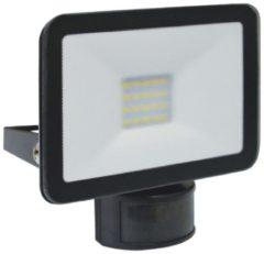 Zwarte ELRO LF5010P LED Buitenlamp met Bewegingssensor Slim Design - 10W / 900lm - Zwart