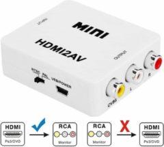 Merkloos / Sans marque VK-126 MINI HDMI naar CVBS / L + R Audio converter-adapter (scaler) (wit)