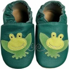 Hobea Babyslofjes groen met kikker (Kruip)