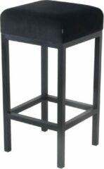 Damiware Barkruk velvet Bruce - Product Kleur: Velvet Zwart / Product Zithoogte: 65 CM
