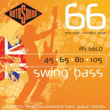Afbeelding van Rotosound Bas snaren RS66LD 4er 45-105 Swing bas 66, Stainless Steel