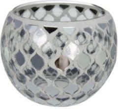 New dutch Mozaïek glas waxinehouder (groot 10.5 cm)