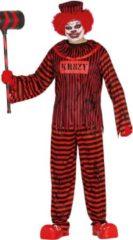 Rode Guirca Monster & Griezel Kostuum | Zwaar Gestoorde Clown | Man | Maat 52-54 | Halloween | Verkleedkleding