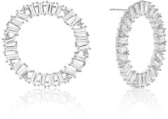 Zilveren SIF JAKOBS JEWELLERY ANTELLA CIRCOLO GRANDE EARRINGS SJ-E0325-CZ