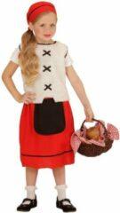 Beige Widmann Boeren Tirol & Oktoberfest Kostuum | Plattelands | Meisje | Maat 110 | Carnaval kostuum | Verkleedkleding