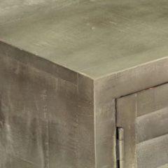 VidaXL Tv-meubel 110x30x48 cm massief mangohout met messing grijs