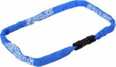 Stahlex Ø4mm / 100cm kettingslot schlechts 360g ketting met cijferslot Het eerste echte fietsslot voor uw kind blauw