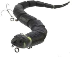 Zwarte Savage Gear 3D Snake Floating - Black Adder - 20cm - 25g