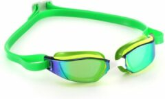 Phelps Xceed - Zwembril - Volwassenen - Mirrored Titanium groen Lens - Geel/Groen