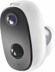 Witte Outdoor eye - Draadloze beveiligingscamera op accu van Smart Home Beveiliging - Bewegingssensor - Voor buiten of binnen - Melding op app - Nachtzicht - Volledig draadloos - Waterdicht en weerbestendig - automatische opname - wifi