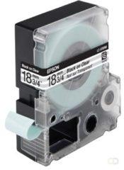 Epson transparante tape breedte 18 mm, zwart/transparant