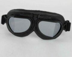 Pothelm.nl Zwarte pilotenbril zilver reflectie glas