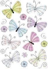 Grijze HERMA 3379 Stickers DECOR Moderne Vlinders, Folie, 2 vel