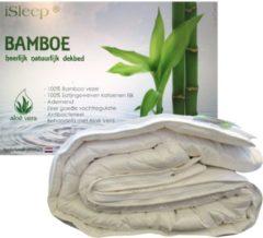 Gebroken-witte ISleep Bamboo DeLuxe 4-Seizoenen Dekbed - 100% Bamboe - Tweepersoons - 200x220 cm