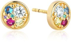 Gouden SIF JAKOBS JEWELLERY NOVARA PICCOLO EARRINGS SJ-E1055-XCZ(YG)