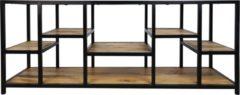 Naturelkleurige HSM Collection TV meubel Levels - 140x40x55 - mangohout/ijzer