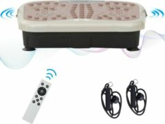Zwarte Merkloos / Sans marque Fitness Trilplaat - Vibratietrainer - Fitness - USB luidspreker - 99 Niveaus - Afstandsbediening - 2 Weerstandsbanden