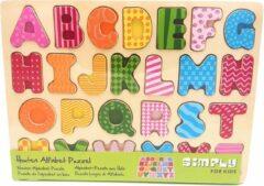 Houten Puzzel Alfabet - 26 Stukjes - Simply for Kids