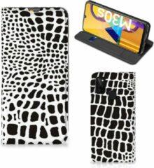 Telefoon Hoesje Samsung Galaxy M21 Bookcase Slangenprint