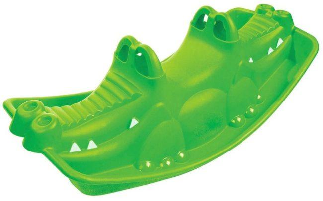Afbeelding van Groene Paradiso Toys Schommelwip krokodil – Crocodile rocker 101 cm