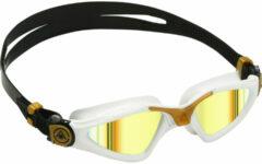 Aqua Sphere Kayenne - Zwembril - Volwassenen - Gold Titanium Mirrored Lens - Wit/Goud