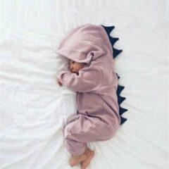 Dinosaurus Dino Draak Onesie Baby Romper Dier-Roze-80