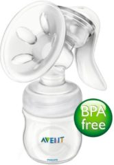 Witte Philips Avent SCF330/20 Handmatige borstkolf met Philips Avent Natural babyfles (125 ml)