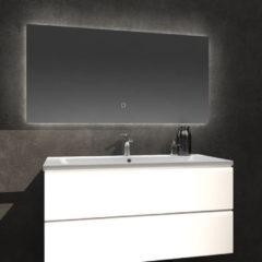 Douche Concurrent Badkamerspiegel Kiki 120x60cm Geintegreerde LED Verlichting Verwarming Anti Condens Touch Lichtschakelaar Dimbaar