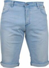 Lichtblauwe MZ72 - Heren Jeans Short - Stretch - Footing - Bleach