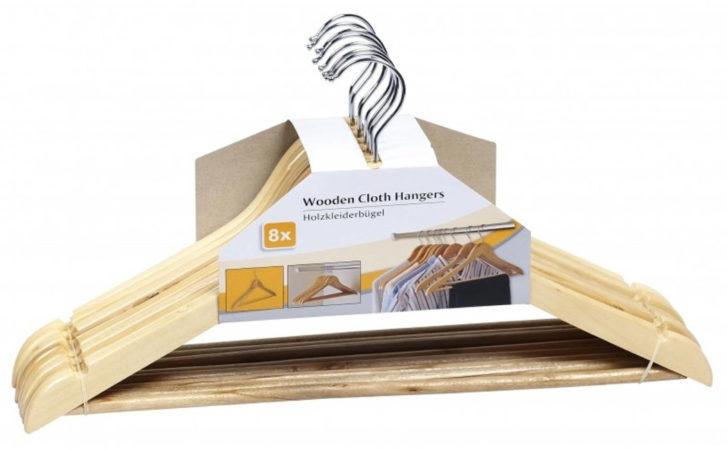 Afbeelding van Bruine Relaxwonen Luxe kledinghanger hout 16 stuks 44 cm - kledinghangers