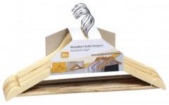 Bruine Relaxwonen Luxe kledinghanger hout 16 stuks 44 cm - kledinghangers
