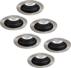 INTOLED Set van 6 stuks Dimbare LED inbouwspot Mesa 5 Watt Philips 2700K warm wit Kantelbaar