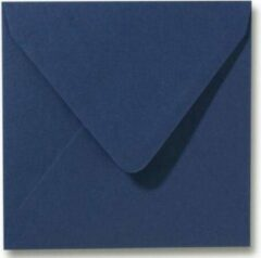 Merkloos / Sans marque Luxe vierkante enveloppen - 50stuks - 14x14 cm - Donkerblauw - 110 grams - 140x140 mm