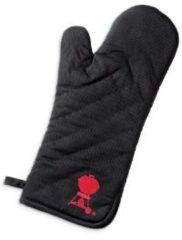 Zwarte Weber Want, zwart met rode barbecue