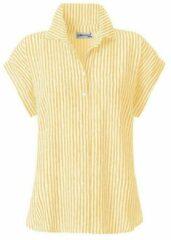 Gele Casual Looks blouse met fijn streepdessin