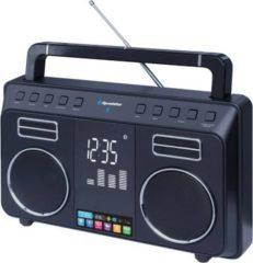Roadstar TRA-800BT tragbares Bluetooth Radio, schwarz, FM-PLL-Radio