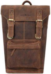 Vintage Rucksack Leder 42 cm Laptopfach Greenburry brown