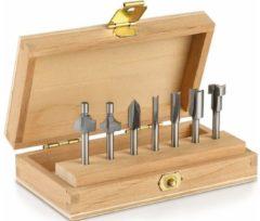 Dremel accessoire Dremel Frezen set - In stevige houten cassette - 7-delig