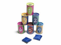 BS Toys Blik gooien Multicolor 10 x 10 x 6 cm 6 stuks