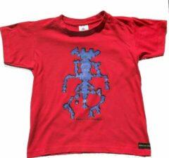 B & C Anha'Lore Designs - Alien - Kinder t-shirt - Rood - 7/8j (122-128)