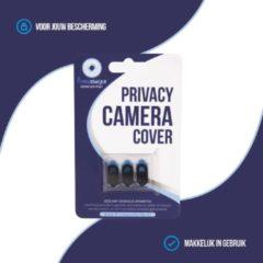 Zwarte Privacyschuifje - webcam cover - camera cover - Geschikt voor Smartphones/Macbook/Ipad - samsung - iphone - laptop - 3 pack